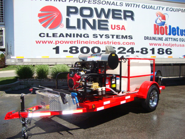 Trailer Mounted Pressure Washer Single Axle Starter