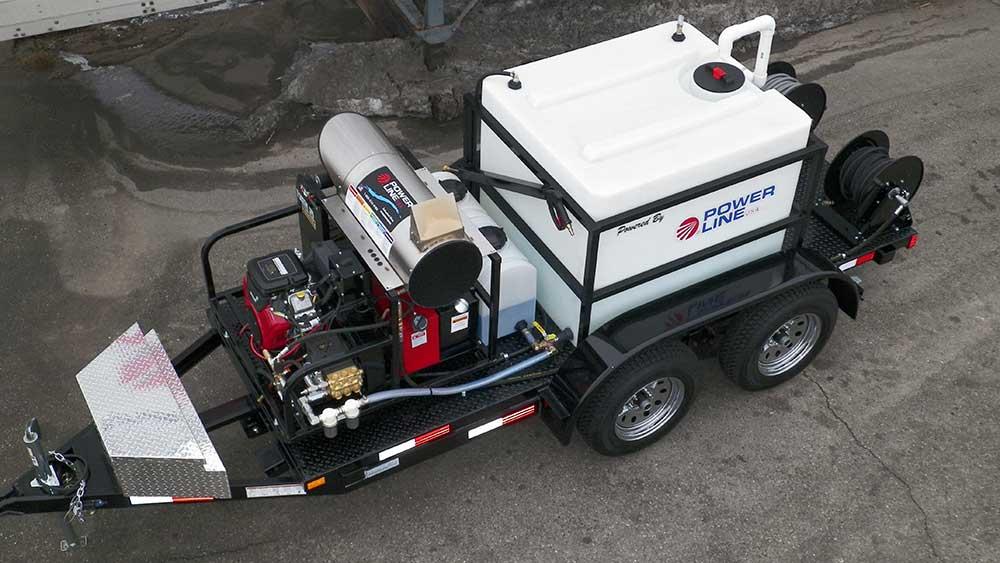 Trailer Mounted Pressure Washer Tandem Axle Starter