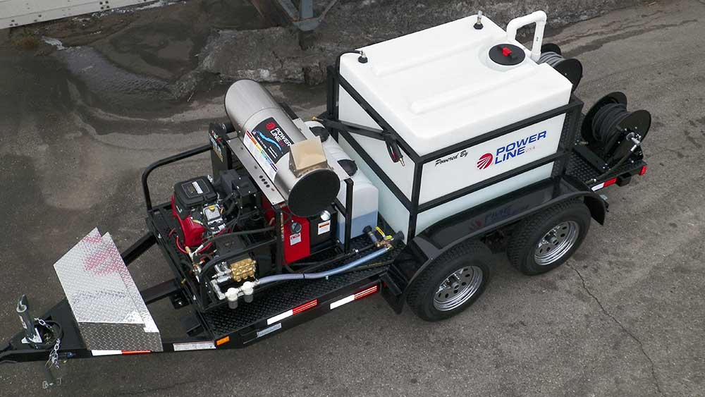 Trailer Mounted Pressure Washer Tandem Axle Starter